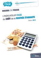 Coût de la rentrée 2014 pour les étudiants parisiens